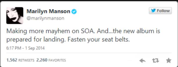 manson tweet