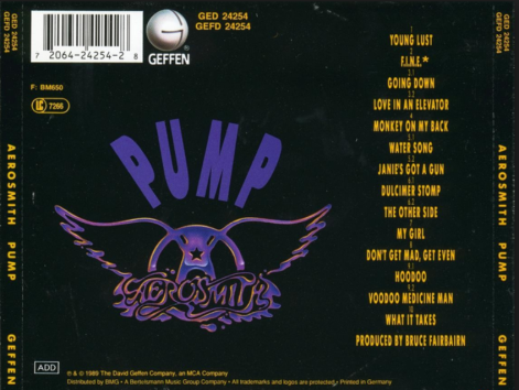 Pump back cover