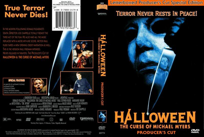 Halloween 6: The Curse Of Michael Myers- The Producer's Cut ...