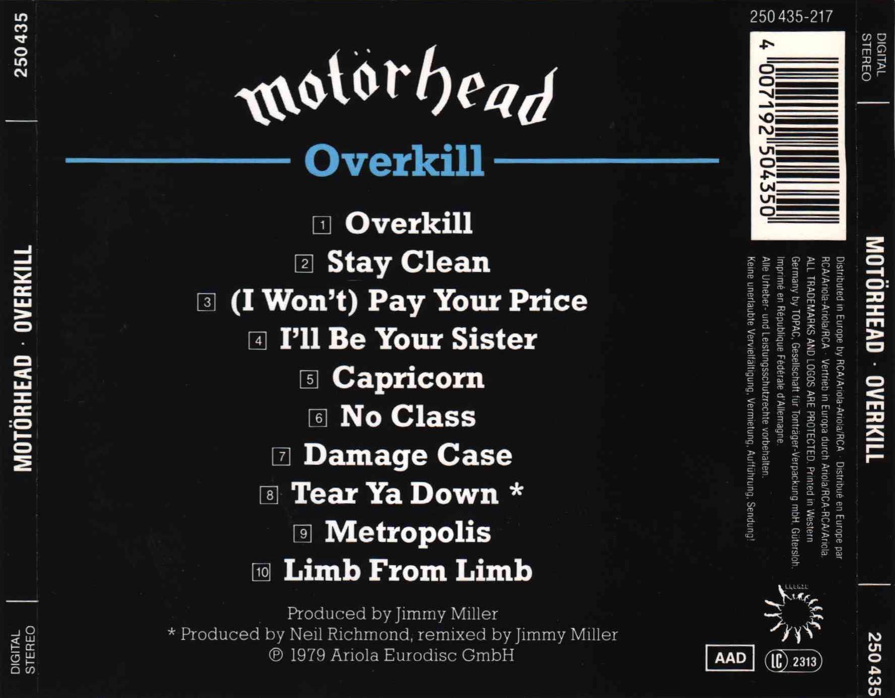 Motorhead Overkill Live Hd