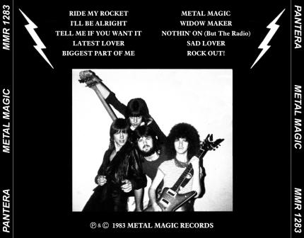 Pantera - Metal Magic - Back