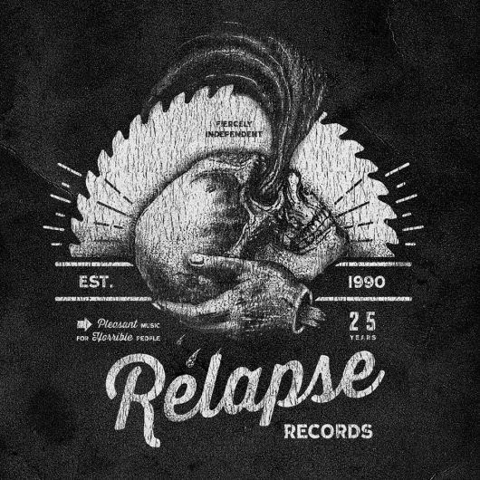 Relapse Records 25th Anniversary Sampler Cover Art