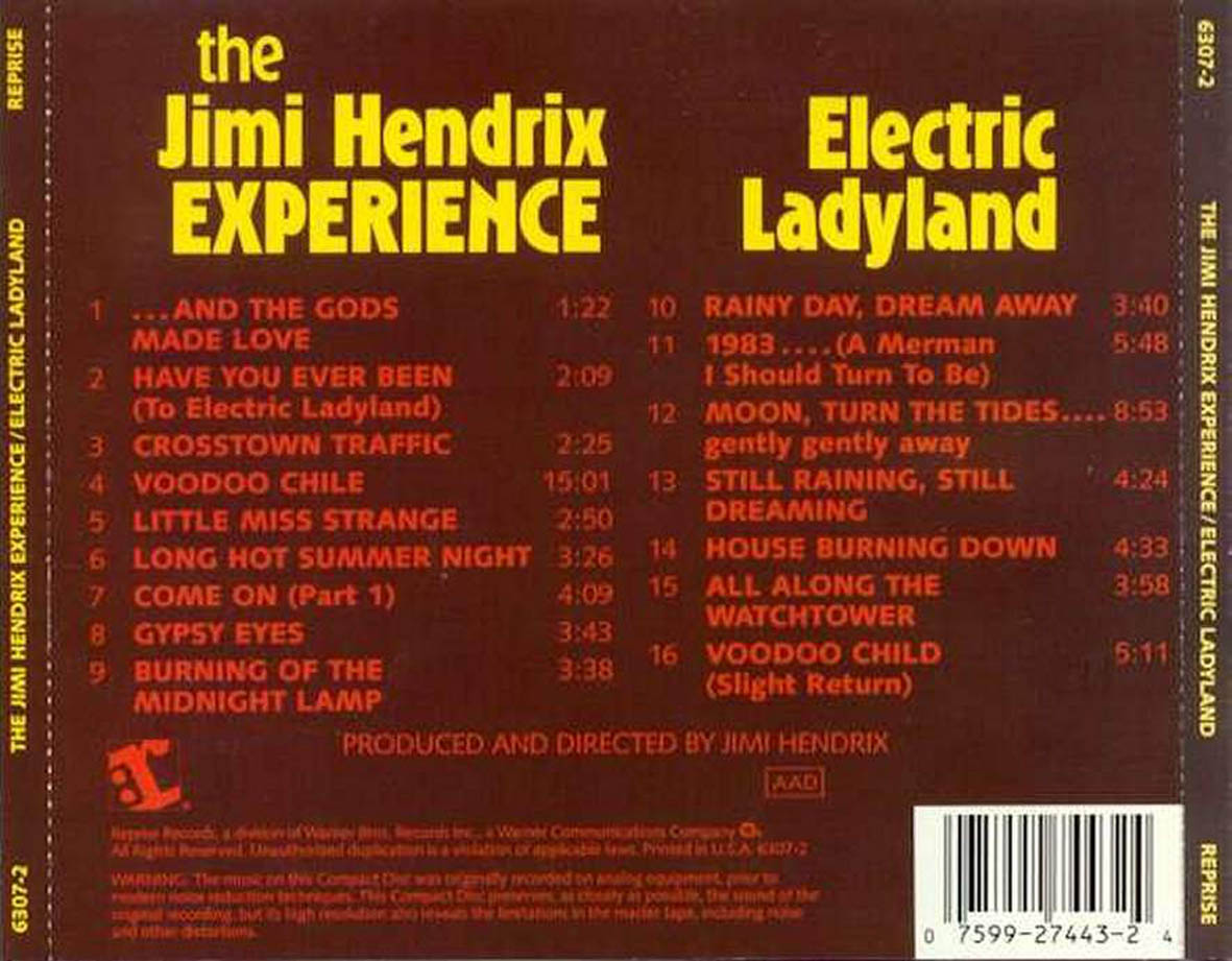 Album Of The Week Electric Ladyland By Jimi Hendrix