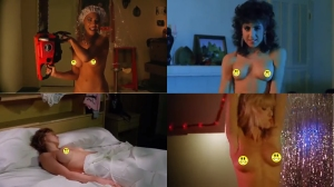 Clockwise from top: Michelle Bauer, Esther Elise, Linnea Quigley, and Susie Wilson