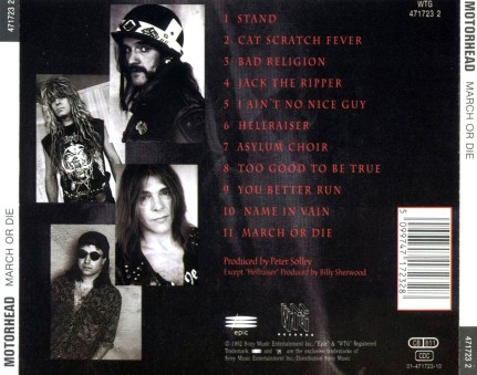 Motorhead-March_Or_Die-Trasera