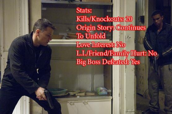 Bourne Ultimatum Stats
