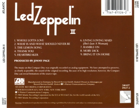 Led Zeppelin - Led Zeppelin 2-Back