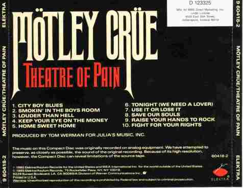 Motley Crue - Theatre Of Pain -ak-