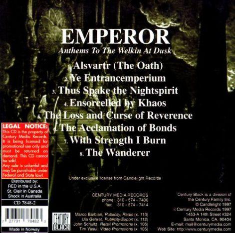 emperor back