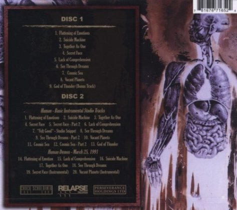 human back cover by death